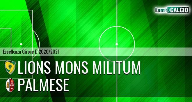 Lions Mons Militum - Palmese