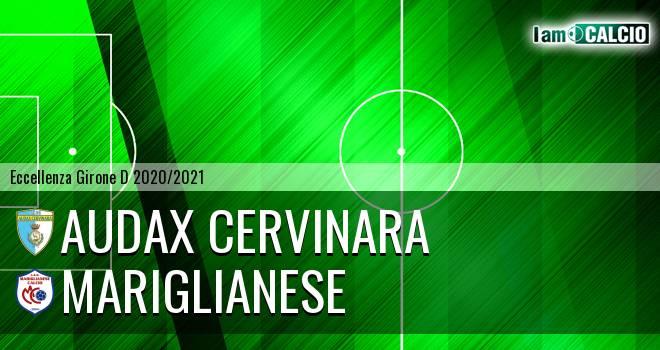 Audax Cervinara - Mariglianese 3-0. Cronaca Diretta 08/05/2021