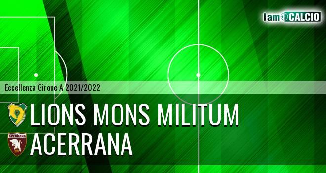Lions Mons Militum - Acerrana
