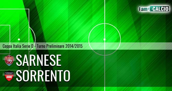 Sarnese - Sorrento 1-0. Cronaca Diretta 24/08/2014