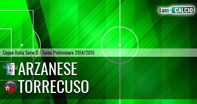 Arzanese 1924 - Torrecuso 1-3. Cronaca Diretta 24/08/2014