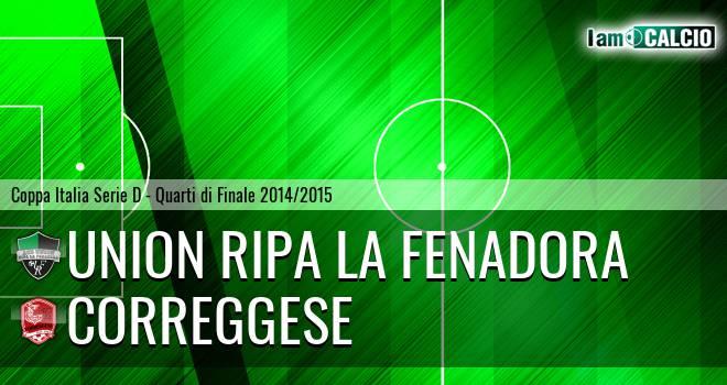 Union Ripa La Fenadora - Correggese