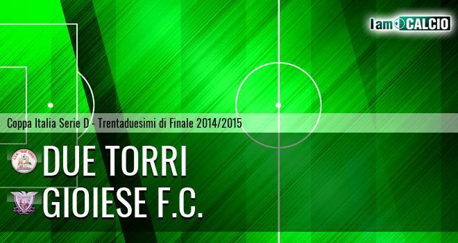 Due Torri - Gioiese 4-2. Cronaca Diretta 10/09/2014