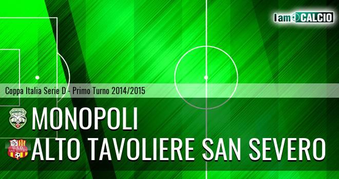 Monopoli - Alto Tavoliere San Severo 3-1. Cronaca Diretta 31/08/2014