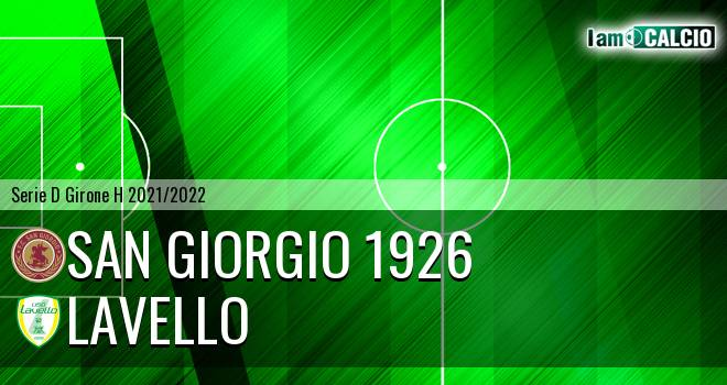 San Giorgio 1926 - Lavello