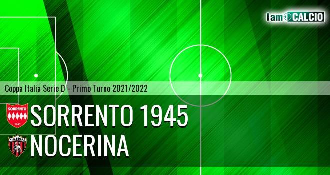 Sorrento 1945 - Nocerina 2-0. Cronaca Diretta 22/09/2021