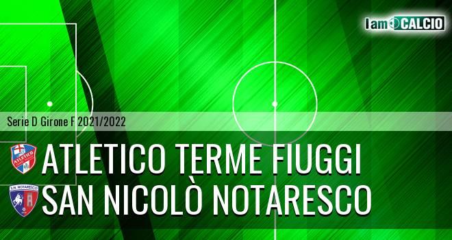Atletico Terme Fiuggi - San Nicolò Notaresco
