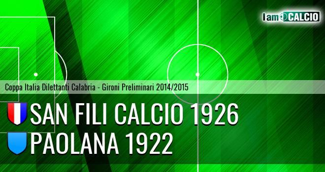 San Fili Calcio 1926 - Paolana 1922
