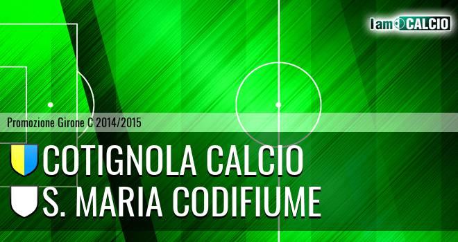 Cotignola Calcio - S. Maria Codifiume