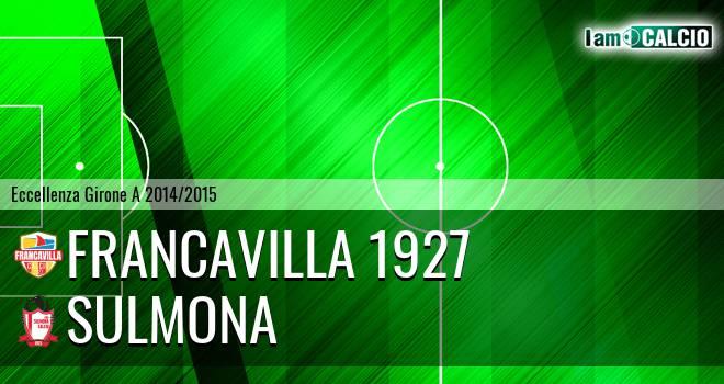 Francavilla 1927 - Sulmona