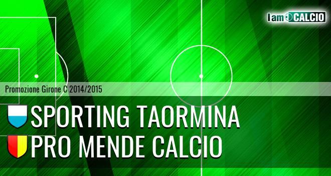 Sporting Taormina - Pro Mende Calcio