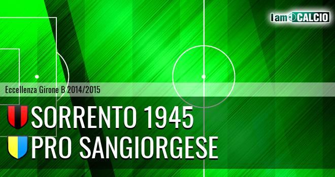 Sorrento 1945 - Pro Sangiorgese