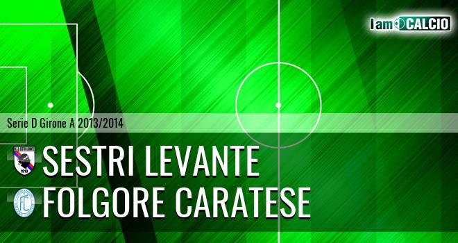 Sestri Levante - Folgore Caratese