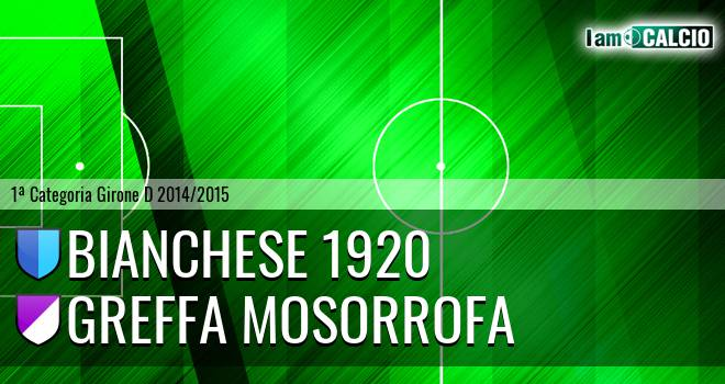 Bianchese 1920 - Greffa Mosorrofa