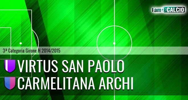 Virtus San Paolo - Carmelitana Archi