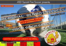 """Al via stasera il """"Memorial Benito Gallucci"""""""