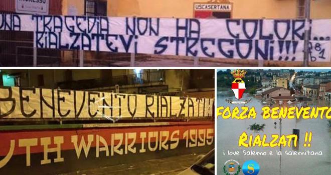 Gli Ultras vincono l'alluvione. Solidarietà oltre i confini
