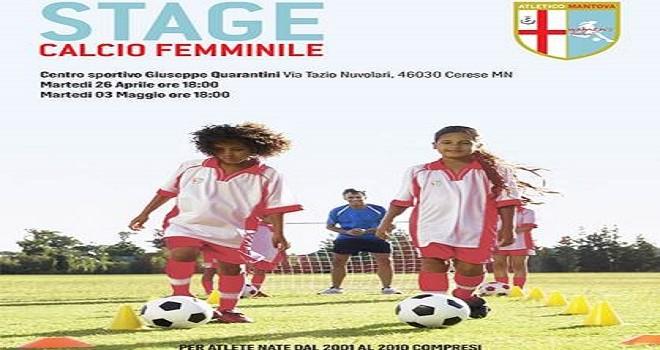 Al via gli stage di calcio femminile per bambine e ragazze