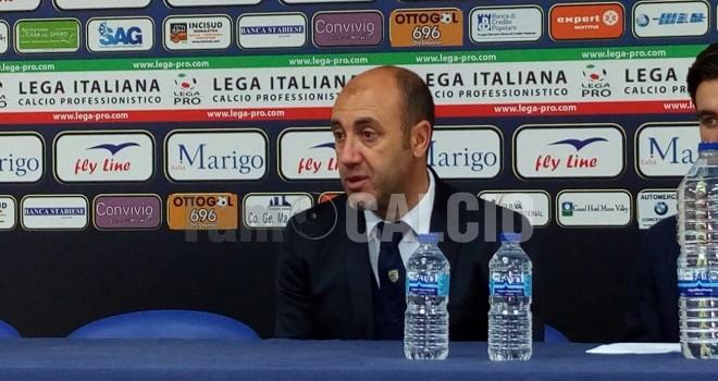 """Juve Stabia, Zavettieri: """"Pari giusto. Benevento? Daremo battaglia"""""""