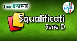 Serie D/I, giudice sportivo: squalificati 9 giocatori e un allenatore