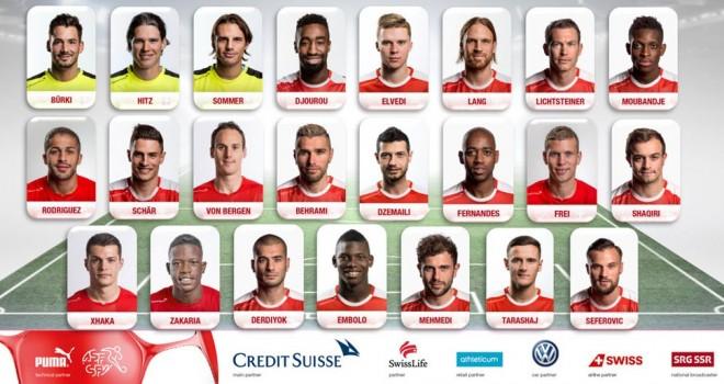 La Svizzera fa paura al Belgio. Ecco i 23 di Petkovic