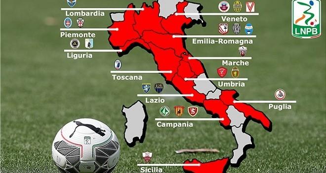Serie B 2016-17, la geografia del torneo cadetto