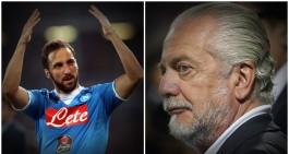 """De Laurentiis: """"Higuain? Non ha buon gusto. Sarri resta a lungo ma..."""""""