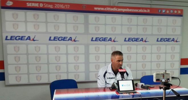 L'allenatore del Campobasso, R. Novelli