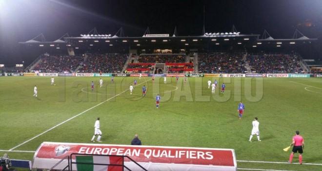 Belotti e Immobile gemelli del gol dell'Italia:  4-0 al Liechtenstein
