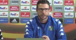 """Sassuolo, Di Francesco:""""Milan squadra in salute, dimenticare l'andata"""""""