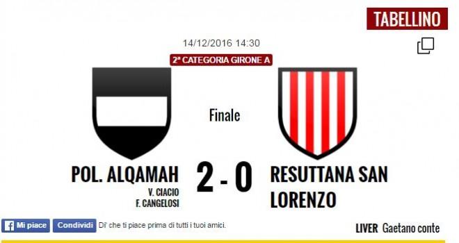 Un gol per tempo, la Pol. Alqamah irrompe in zona play-off