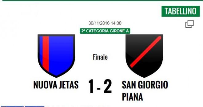 Seconda Categoria, il recupero: vince il San Giorgio Piana