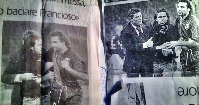 L'arbitro che fece invasione di campo nel derby di Genova nel 2001. .