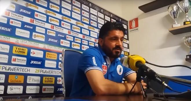 """Gattuso: """"Non è facile indossare una maglia come quella del Bari"""""""