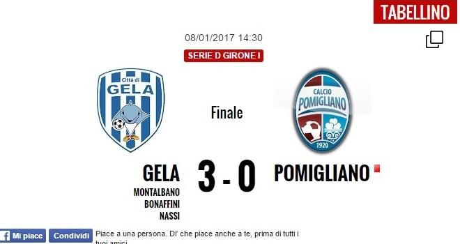 Serie D. Il Gela torna a vincere. Battuto 3 - 0 il Pomigliano