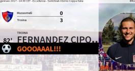 Fernandez Cipolla show! Il Troina vola in finale di Coppa Italia