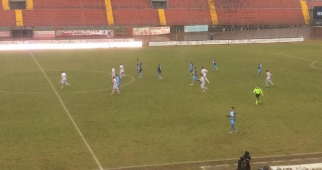 MANTOVA-ALBINOLEFFE 1-2 : Celeste corsara con il gol dell'ex Gonzi