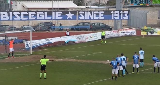 Non basta il coraggio al Manfredonia, il Bisceglie fa 3-2 nel finale