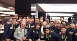 Sorpresa per la Fidelis: Lino Banfi fa visita alla squadra