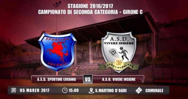 Sporting Lucania-Vivere Insieme alla fine si gioca domenica ore 15