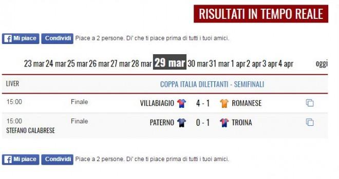 Coppa Italia Dil.: Troina, un passo verso la finale! 0-1 al Paterno