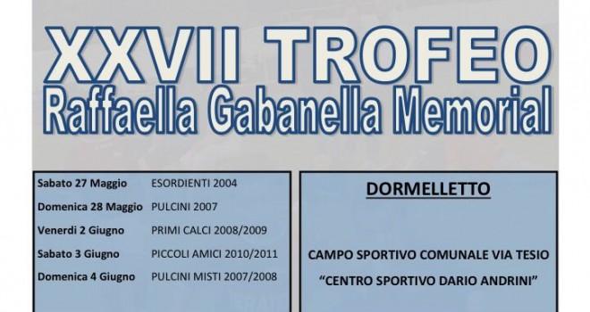 Alle porte il 27° Trofeo Gabanella