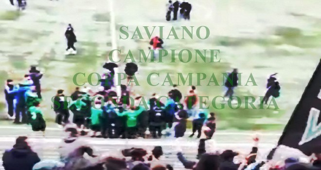 Saviano-Sanmaurese 9-8: neroverdi Campioni di Coppa dopo 48 anni