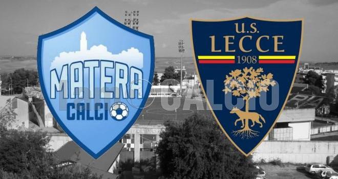 Matera-Lecce: le formazioni ufficiali