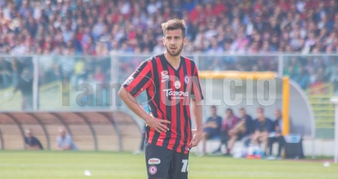 Francesco Deli, autore del gol rossonero