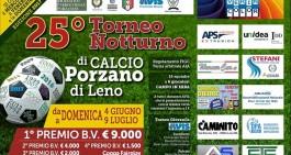 Torneo di Porzano di Leno, definiti i gironi e la prima giornata