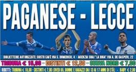 Paganese-Lecce, partita la prevendita: info e prezzi