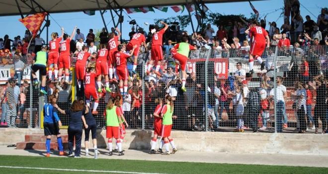Bari-Roma 6-5 (dcr); il sogno si realizza, la Pink ritorna in serie A