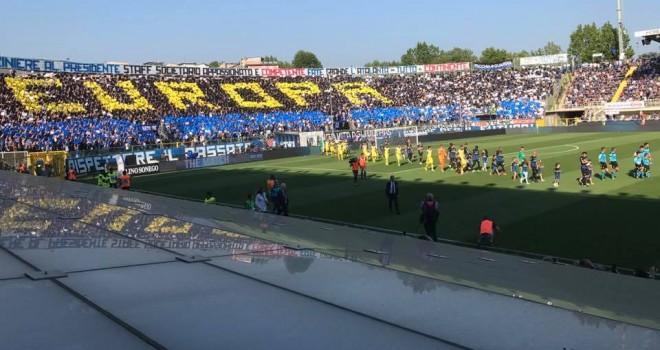 ATALANTA-CHIEVO 1-0 - vittoria, inno e gran festa per l'Europa