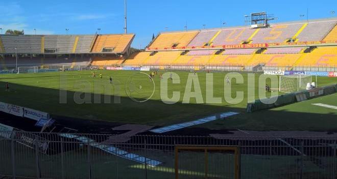Lecce: oggi la rifinitura a porte chiuse per la gara con il Catania